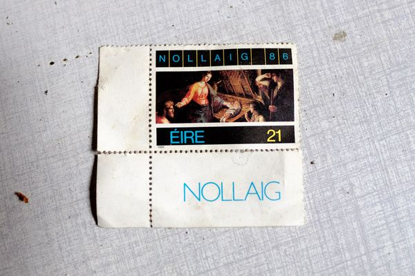 Old things: Nollaig 1986 stamp